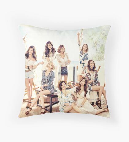 girls generation Throw Pillow