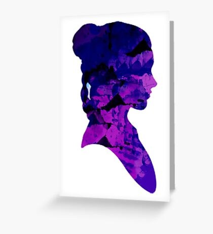 Princess Leia Bust - Water Colour Greeting Card