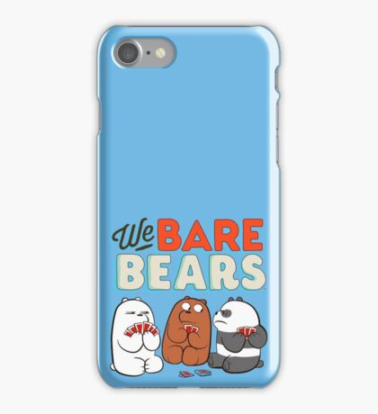 We bare Bears Cards iPhone Case/Skin