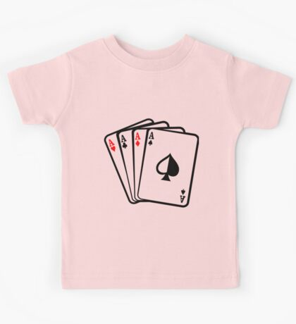 Four Aces Cards Poker Hand Kids Tee