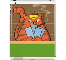 Cat Poker iPad Case/Skin