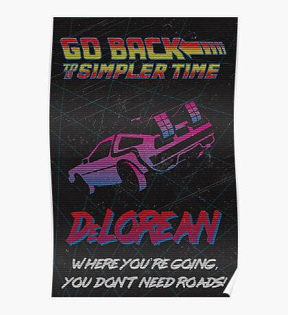 Retro Back to the Future Travel Poster Poster