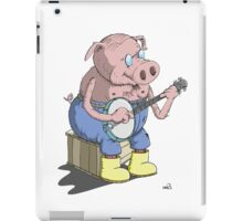 Das Hillbilly Schwein spielt Banjo iPad Case/Skin