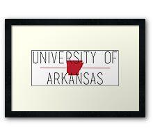 university of arkansas Framed Print