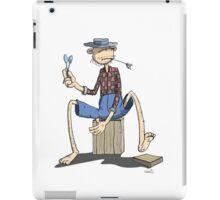 Der Hillbilly Affe macht den Rhythmus iPad Case/Skin