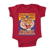 TIGER, Growl, Circus Poster, Ringling Bros, Circus, Animal, Vintage, Poster, One Piece - Short Sleeve
