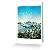 Snowy Mountain Scene - Version 2. Greeting Card