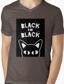 Black in Black Mens V-Neck T-Shirt