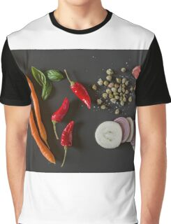 Fresh organic vegetables for a healthily cooking Graphic T-Shirt