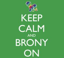 Keep Calm and Brony On - Black Kids Clothes