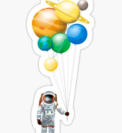 Planet Balloons - Design 2 Sticker