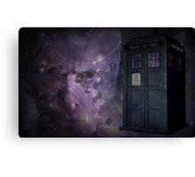 Steampunk Dr Who & Tardis Canvas Print
