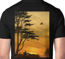 Girl On A Bench At Sunset Unisex T-Shirt