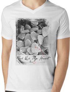 Pick Up My Heart (BW) Mens V-Neck T-Shirt
