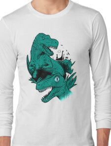 Dinosaur Blue Long Sleeve T-Shirt