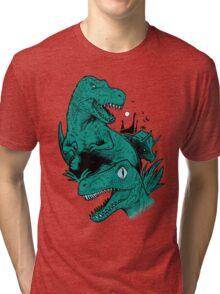Dinosaur Blue Tri-blend T-Shirt