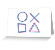 Playstation Controller Greeting Card