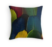 Parrot Feathers (coloured detail) Throw Pillow