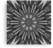 Beautiful Black & White Kaleidoscope Pattern Canvas Print