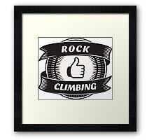 Like Rock Climbing Framed Print