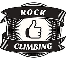 Like Rock Climbing Photographic Print