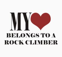 My Heart Belongs To A Rock Climber by SportsT-Shirts
