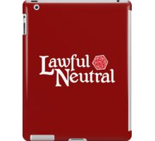 Lawful Neutral iPad Case/Skin