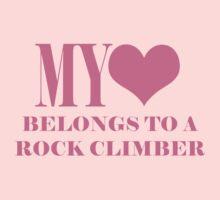 My Heart Belongs To A Rock Climber Kids Clothes