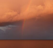 Raincloud & Sunset!  from Second Head, Forster, N.S.W. by Rita Blom