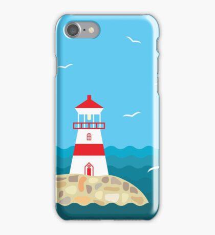 Lighthouse on the stony shore iPhone Case/Skin