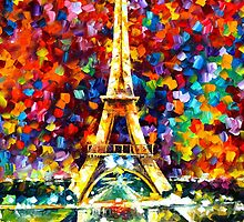 paris of my dreams - Leonid Afremov by Leonid Afremov