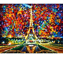 paris of my dreams - Leonid Afremov Photographic Print