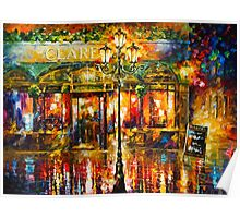 Misty Cafe - Leonid Afremov Poster