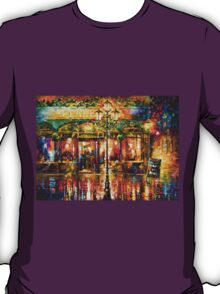 Misty Cafe - Leonid Afremov T-Shirt