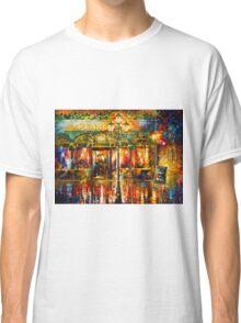 Misty Cafe - Leonid Afremov Classic T-Shirt