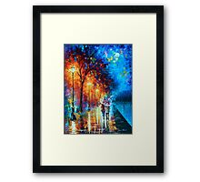 Love by The Lake - Leonid Afremov Framed Print