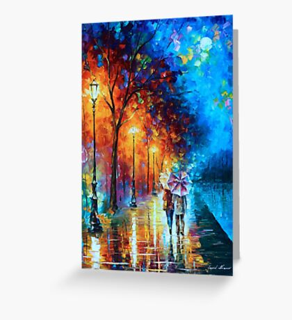 Love by The Lake - Leonid Afremov Greeting Card
