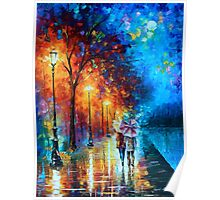 Love by The Lake - Leonid Afremov Poster