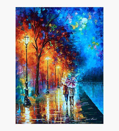 Love by The Lake - Leonid Afremov Photographic Print