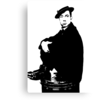 Buster Keaton Sits On The Can Canvas Print