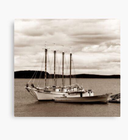 Boat in Sepia Canvas Print