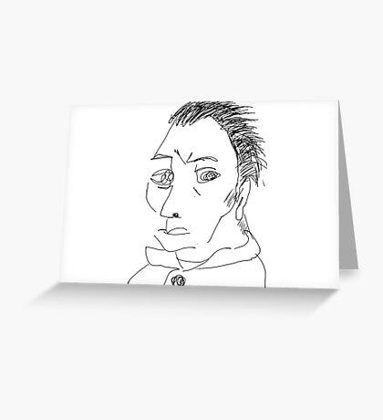 Self-portrait without beard-Van Gogh Greeting Card