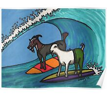Surfing Goats Poster