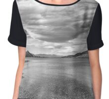 Scattered clouds near Te Anau in South Island New Zealand Chiffon Top
