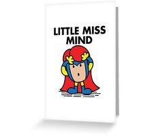 Little Miss Mind Greeting Card
