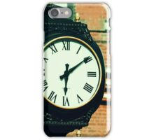 Tick Tock Goes the Clock iPhone Case/Skin