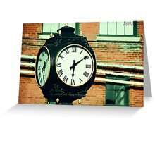 Tick Tock Goes the Clock Greeting Card
