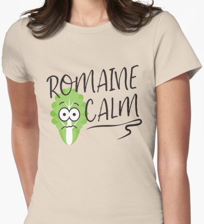 Romaine Calm Womens Fitted T-Shirt