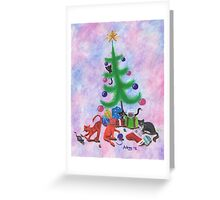 A Kitty Christmas Greeting Card
