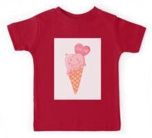Love ice cream. Kids Tee